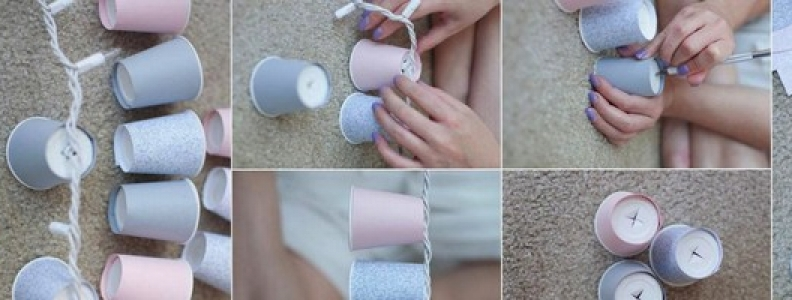 DIY – Paper Cups Garland Lights