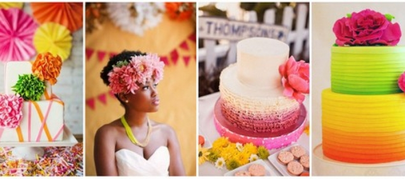 Wedding Trend – Bright Wedding Cakes